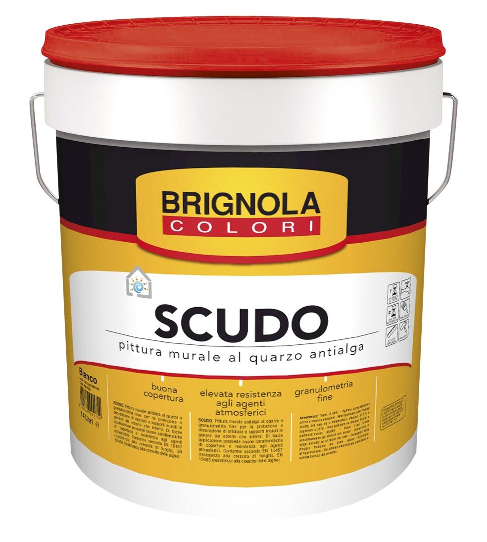 Pittura murale al quarzo antialga bianca Scudo Lt. 5 ...